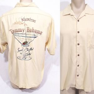 Tommy Bahama Martini Glass Hawaiian Shirt L